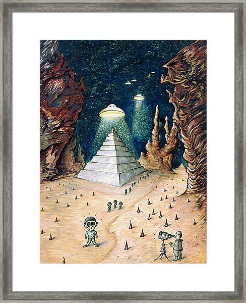 Alien Invasion - Space Art Painting Framed Print