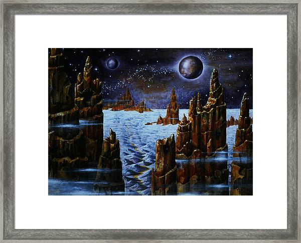 Ice And Snow  Planet  Framed Print