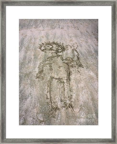 Alien On The Beach Framed Print