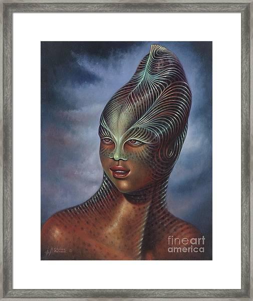 Alien Portrait I Framed Print