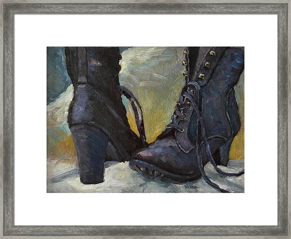 Ali's Boots Framed Print
