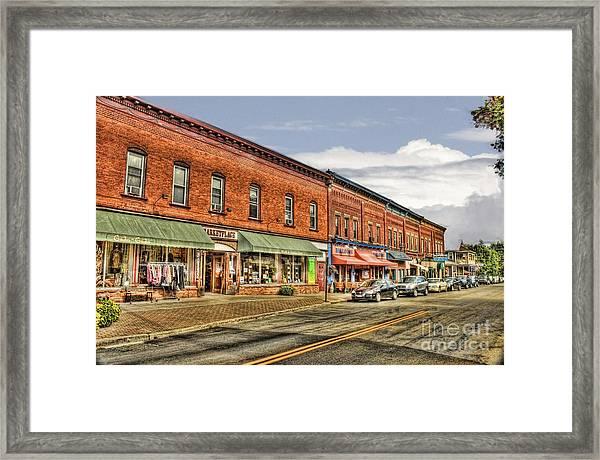 All Along Main Street Framed Print