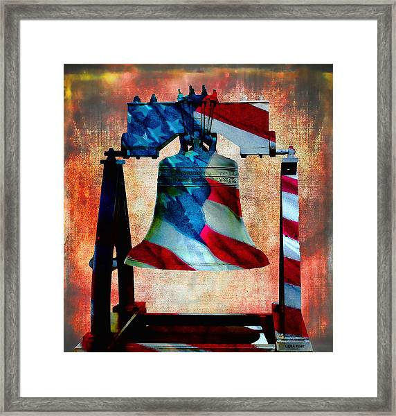 Liberty Bell Art Smooth All American Series Framed Print