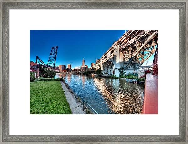 All Roads Lead To Cleveland Framed Print