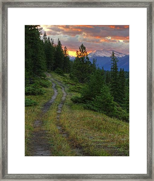 All Roads Lead To Home Framed Print
