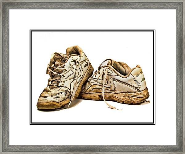 All Worn Out Framed Print