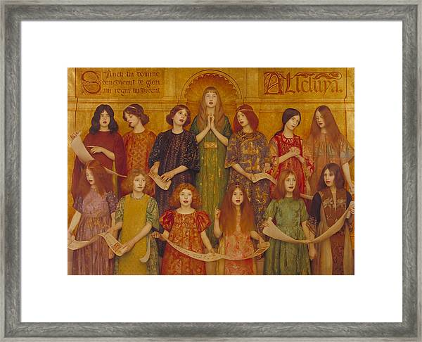 Framed Print featuring the painting Alleluia by Thomas Cooper Gotch