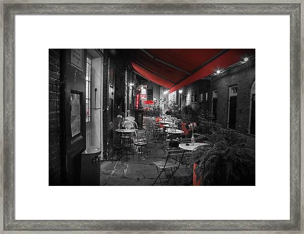 Alley Cafe Framed Print
