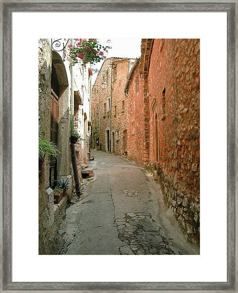Alley In Tourrette-sur-loup Framed Print