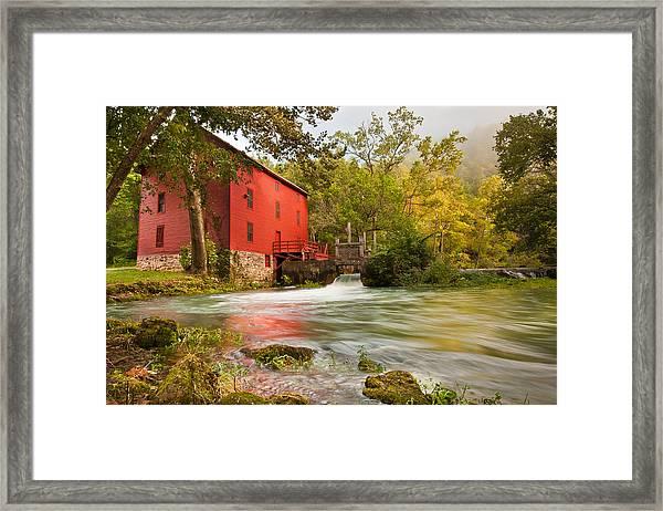 Alley Spring Mill - Eminence Missouri Framed Print