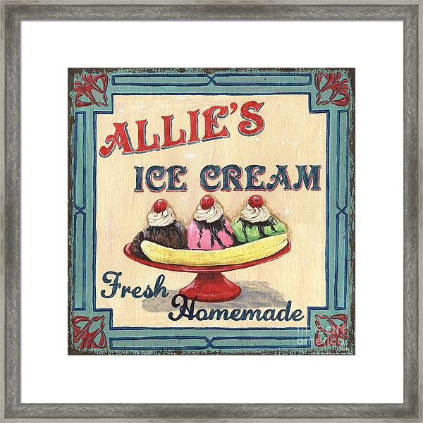Allie's Ice Cream Framed Print