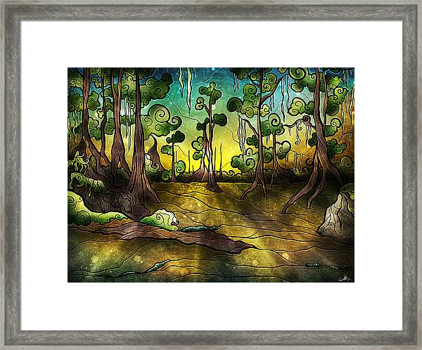 Alligator Swamp Framed Print