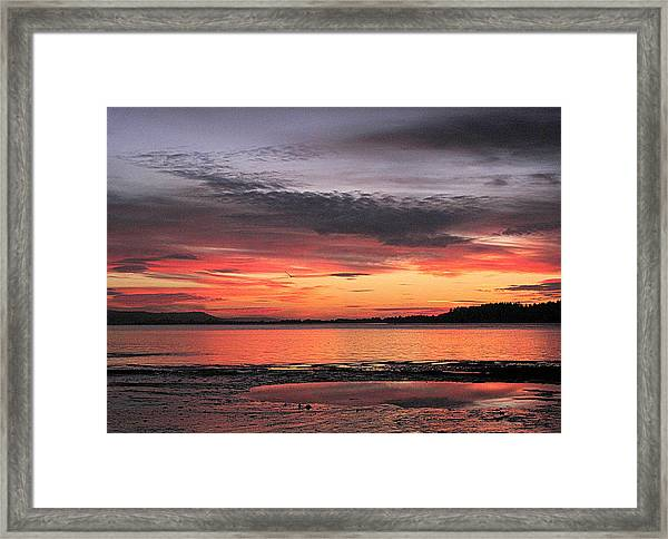 Alluring Sunset Framed Print