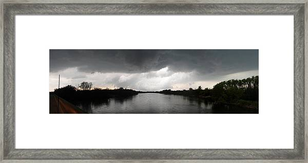 Almost A Waterspout Framed Print