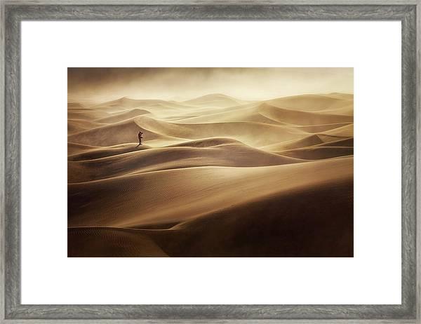 Alone Framed Print by Mirko Vecernik