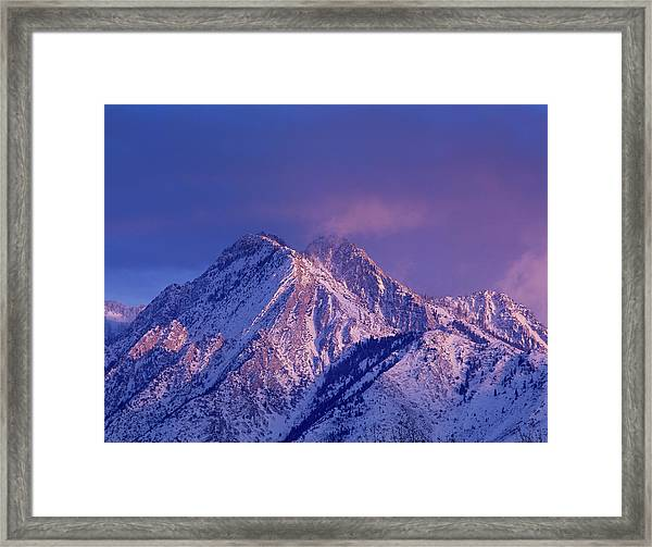 Alpenglow On Mount Olympus Framed Print