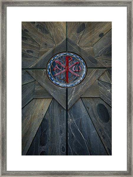 Alpha And Omega Chi Rho Framed Print