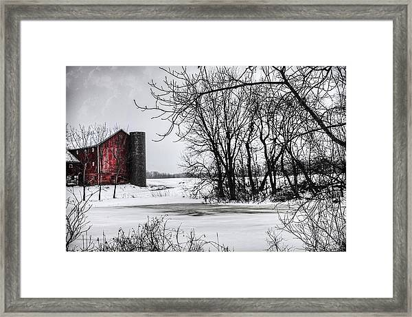 Alpine Barn Michigan Framed Print