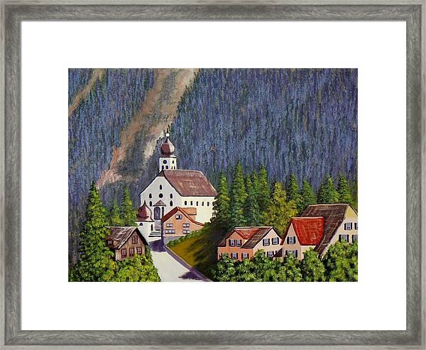 Alpine Church Framed Print