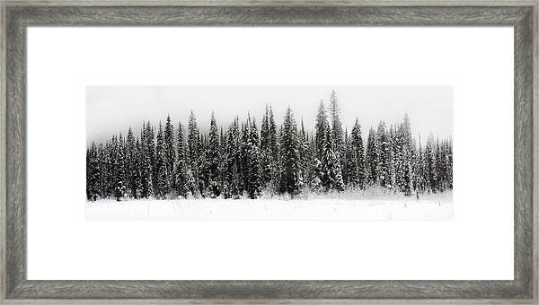 Winter Scene // Whitefish, Montana  Framed Print