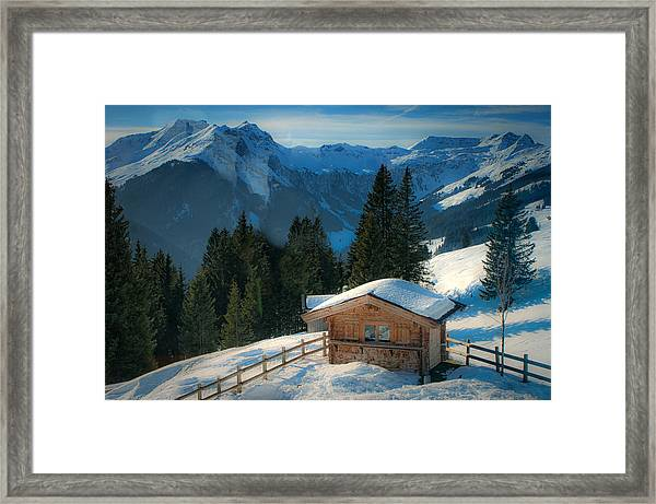 Alpine View Framed Print