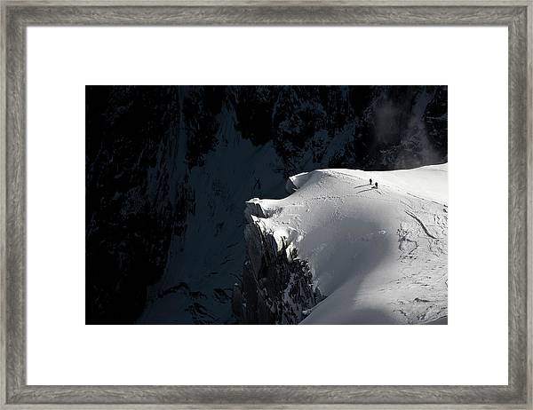 Alpinists Framed Print by Tristan Shu