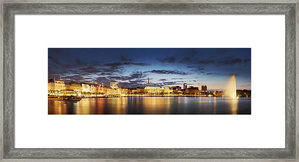 Alsterpanorama Hamburg Framed Print