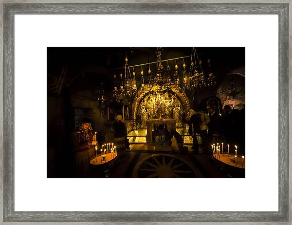 Altar Of The Crucifixion Framed Print