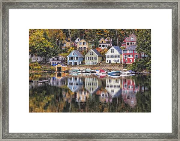 Alton Bay Houses Framed Print