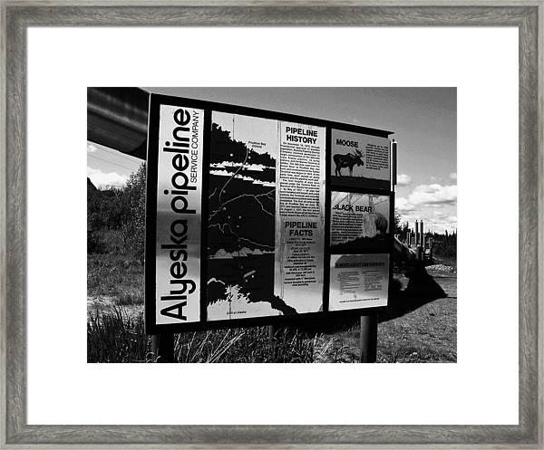 Alyeska Pipeline Framed Print