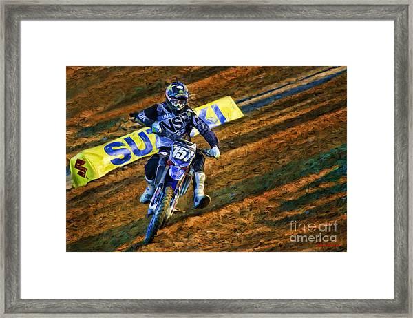 Ama 250sx Supercross Aaron Plessinger Framed Print
