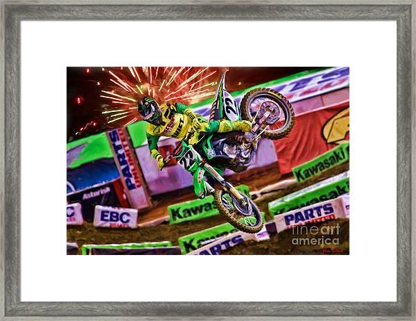 Ama 450sx Supercross Chad Reed Framed Print