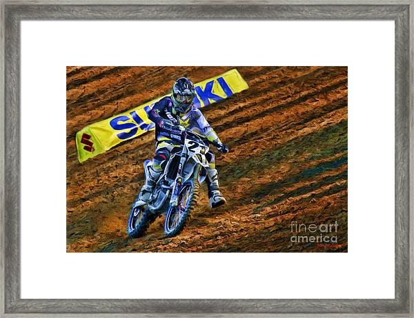 Ama 450sx Supercross Jason Anderson Framed Print
