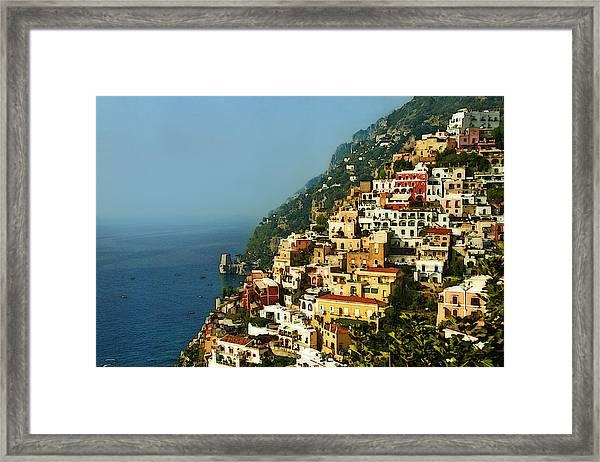 Positano Impression Framed Print