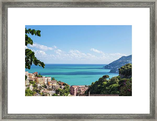 Amalfi Coast Landscape Vietri Village Framed Print