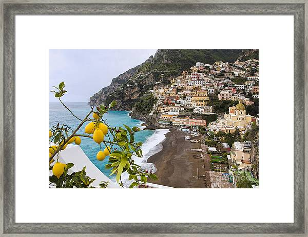 Amalfi Coast Town Framed Print