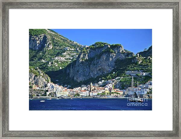 Famous Amalfi Village Framed Print