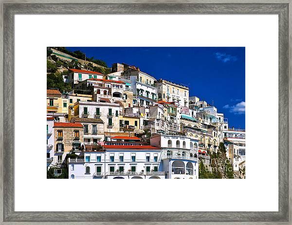 Amalfi Architecture Framed Print