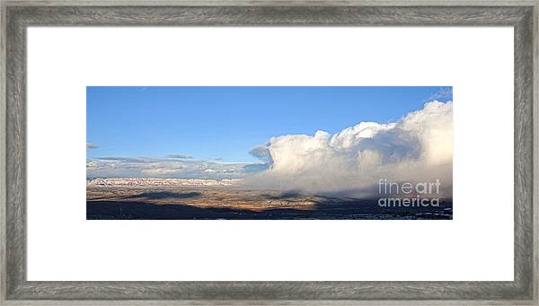 Amazing Cloud Swallows Red Rocks Of Sedona Arizona Framed Print