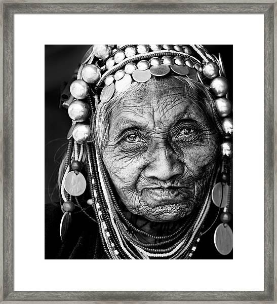 Amazing Face Framed Print