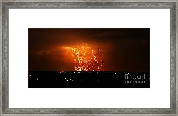 Amazing Lightning Cluster Framed Print