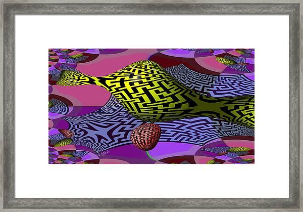 Mandelbrot Maze Framed Print