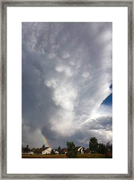 Amazing Storm Clouds Framed Print