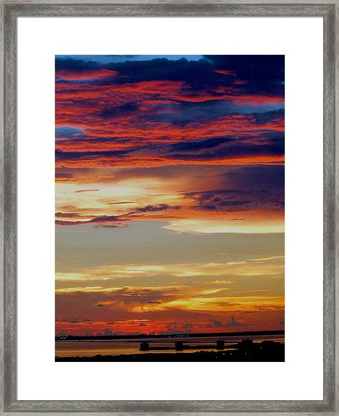 Amazing Sunset Framed Print