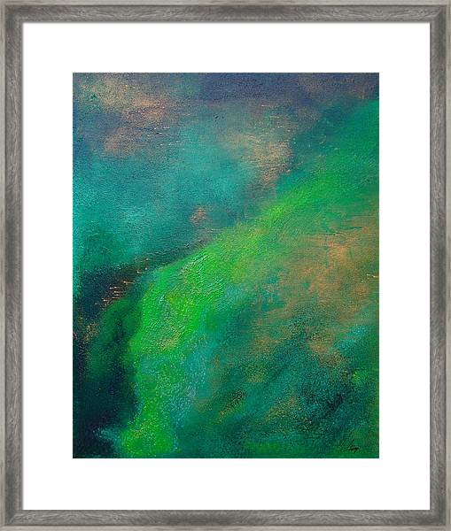 Amazon Stream Framed Print by Jay Strong