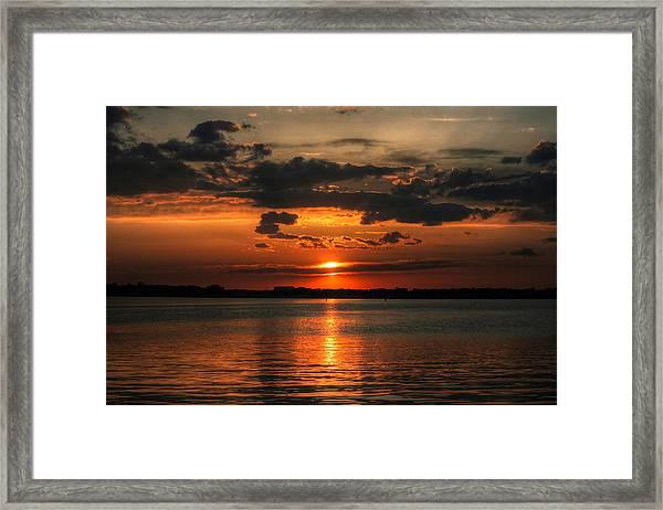 Amber Sunset Framed Print