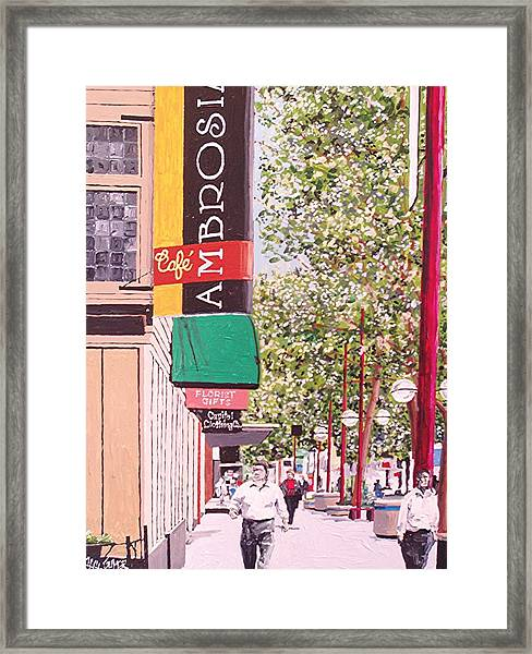 Ambrosia At Eleventh And K Framed Print by Paul Guyer