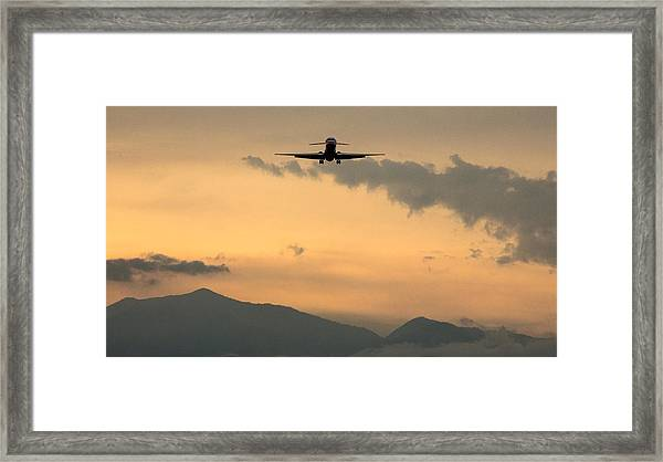 American Airlines Approach Framed Print