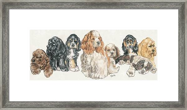 American Cocker Spaniel Puppies Framed Print