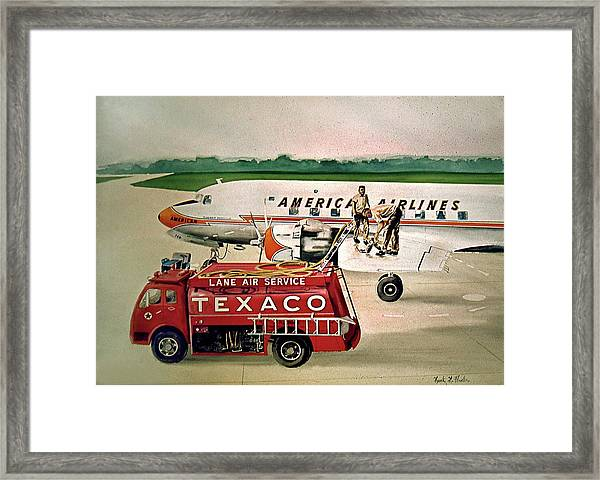 American Dc-6 At Columbus Framed Print
